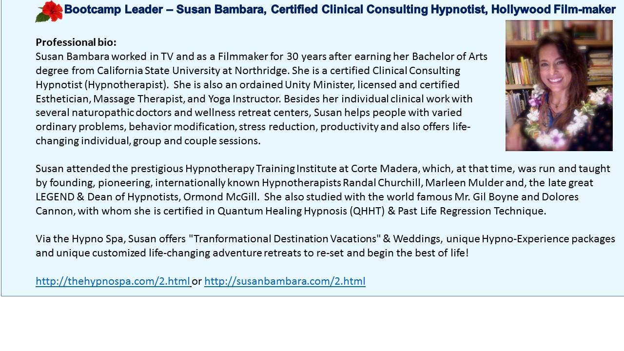 Susan Bambara Hypno Therapist Hollywood filmmaker Matrix Reloaded